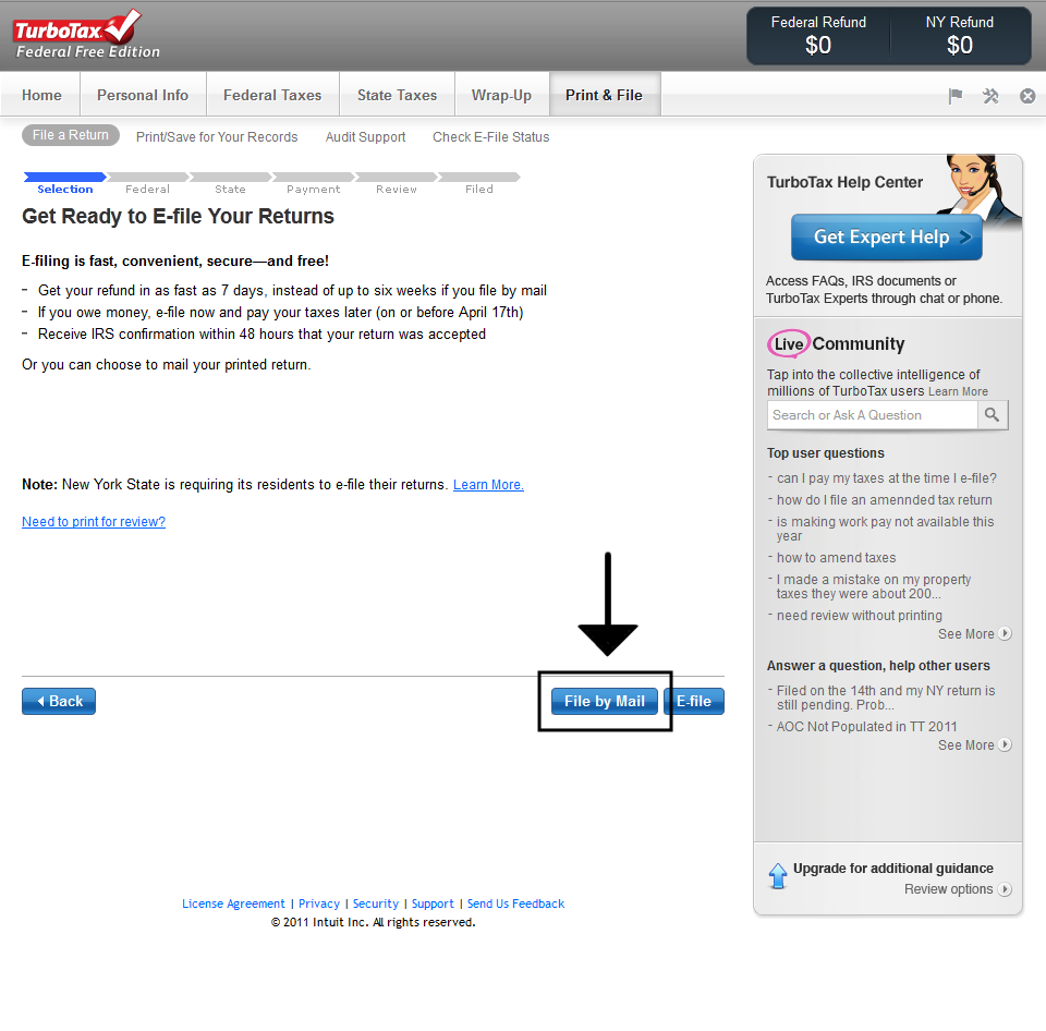 Printing TurboTax Online Tax Return 3