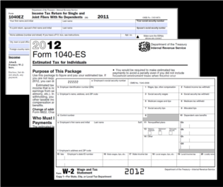 1040 tax forms 2012