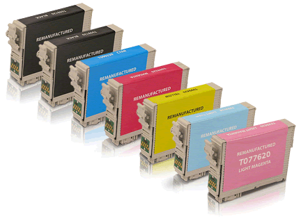 Epson Stylus Photo RX595 T078 7-pack 2 black 78, 1 cyan 78, 1 magenta 78, 1 yellow 78, 1 light cyan 78, 1 light magenta 78