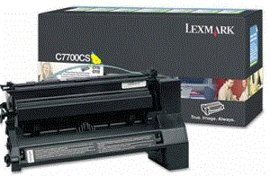 Lexmark X782E XL C782U1YG yellow cartridge
