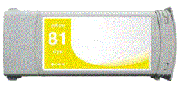 HP Designjet 5500 81 yellow dye ink cartridge, dye not pigment