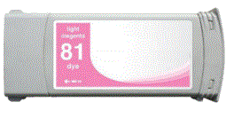HP Designjet 5500 81 light magenta dye ink cartridge, dye not pigment