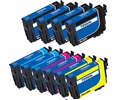 Epson 254XL 10 pack 4 black 252xl, 2 cyan 252xl, 2 magenta 252xl, 2 yellow 252xl