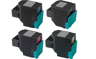 Lexmark C544N JUMBO 4 pack cartridge