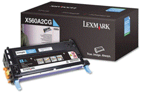 Lexmark X560N cyan X560H2CG cartridge