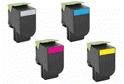 Lexmark CS510de 4 pack cartridge