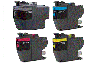Brother Super High Yield LC3019 LC3019 4-pack 1 black LC3019, 1 cyan LC3019, 1 magenta LC3019, 1 yellow LC3019