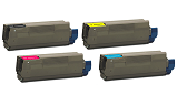 Okidata C6100DTN 4-pack cartridge