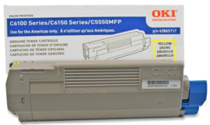 Okidata MC560 Plus 43865717 yellow cartridge