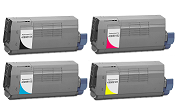 Okidata C710N 4-pack cartridge