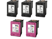 HP ENVY Photo 6255 5-pack 3 black 64XL, 2 color 64XL