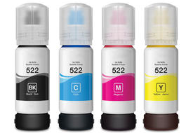 Epson Expression ET-2720 EcoTank 522 4-pack 1 black 522, 1 cyan 522, 1 magenta 522, 1 yellow 522